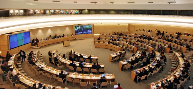 photo for one of the UNHRC session.  (© www.cuba support .com)
