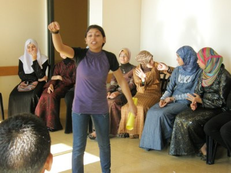 Children from Kufr Qasem develop their own activities to educate one another about history, geography and their rights as part of Badil's Youth Education and Activation project, August 2009.