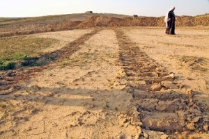 Track marks of the heavy Israeli destruction machinery are all that is left after al- Araqib village was again demolished in 2012 (Source: BADIL's Ongoing Nabka Education Center).