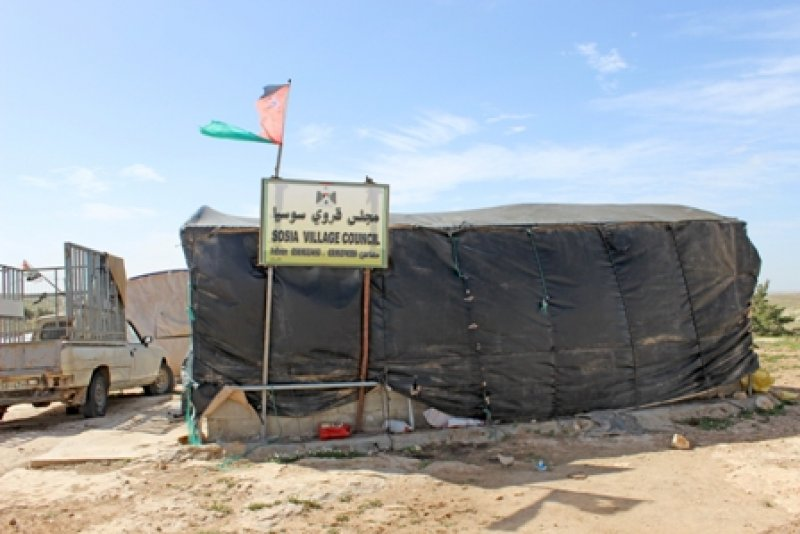 Tent of the Susya Village Council, February 2013. (© BADIL).